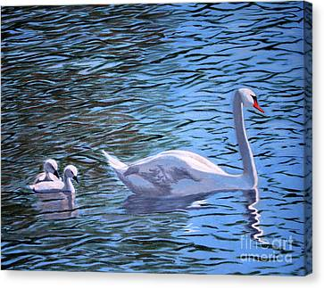 Mom And Pair Canvas Print