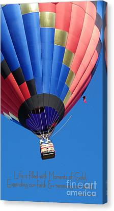 Moments Of Gold Canvas Print by Bobbee Rickard