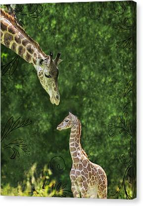 Momma Loves Me Canvas Print