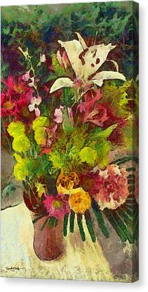 Mom's Flowers Canvas Print by Spyder Webb
