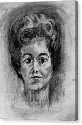 Mom's Self Portrait Canvas Print