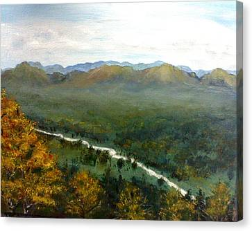Canvas Print featuring the painting Mom's Valley by J L Zarek