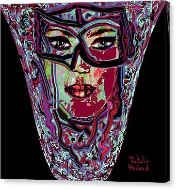 Mom's Venetian Glass Vase 3 Canvas Print by Natalie Holland