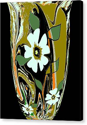 Italian Kitchen Canvas Print - Mom's Venetian Glass Vase 8 by Natalie Holland