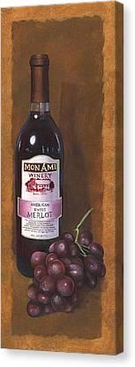 Mon Ami Merlot Canvas Print by Terri  Meyer