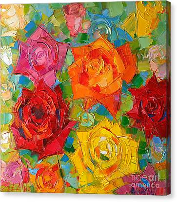Abstract Forms Canvas Print - Mon Amour La Rose by Mona Edulesco