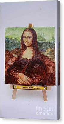 Canvas Print featuring the painting Mona by Diana Bursztein