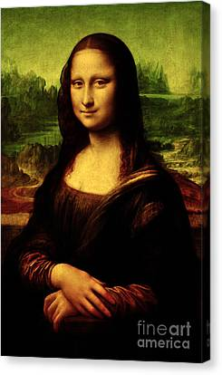 Canvas Print featuring the painting Mona Lisa by Da Vinci