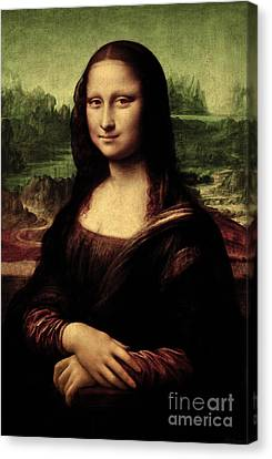 Canvas Print featuring the painting Mona Lisa Painting by Leonardo da Vinci