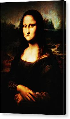 Mona Lisa Take One Canvas Print by Bill Cannon