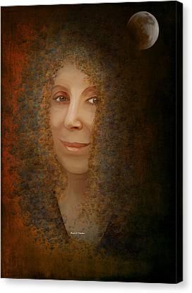 Mona Mia Canvas Print by Angela A Stanton