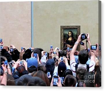 Mona Mobbed Canvas Print