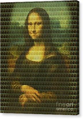 Mona Mosaic Canvas Print