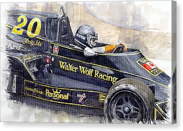Monaco 1976 Wolf Wiliams Fw05 Jacki Ickx Canvas Print by Yuriy Shevchuk