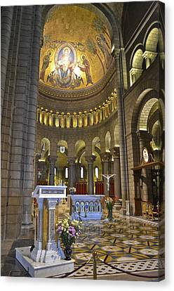 Canvas Print featuring the photograph Monaco Cathedral by Allen Sheffield
