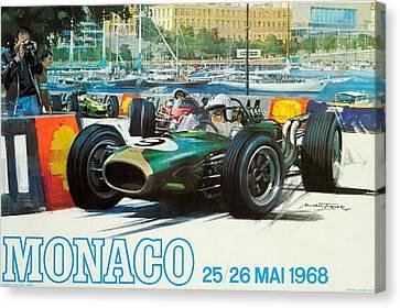 Monaco F1 Grand Prix 1968 Canvas Print