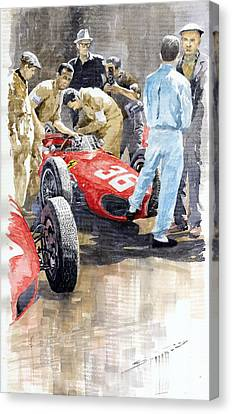 Monaco Gp 1961 Ferrari 156 Sharknose Richie Ginther Canvas Print by Yuriy Shevchuk