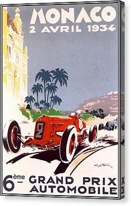 Monaco Grand Prix 1934 Canvas Print by Georgia Fowler