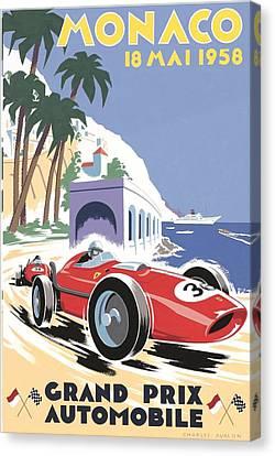 Monaco Grand Prix 1958 Canvas Print