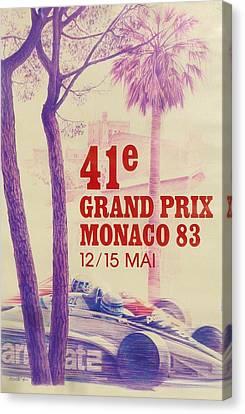 Monaco Grand Prix 1983 Canvas Print