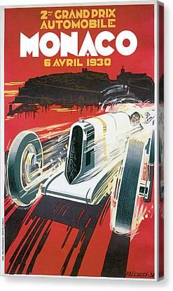 Monaco Grand Prix Vintage Poster Canvas Print