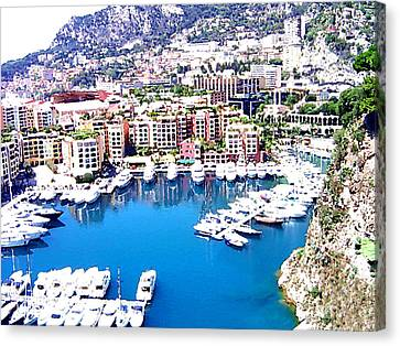 Canvas Print featuring the photograph Monaco by Marwan Khoury