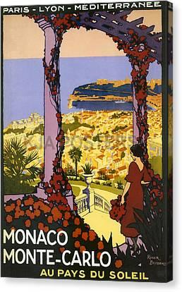 Monaco - Monte Carlo Canvas Print by Georgia Fowler