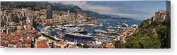 Monaco Panorama Canvas Print by David Smith