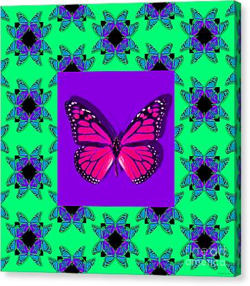 Monarch Butterfly Abstract Window 20130203p148 Canvas Print by Wingsdomain Art and Photography