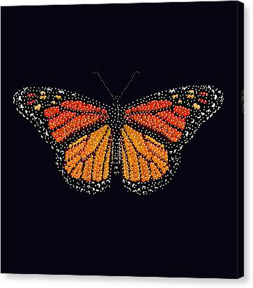Monarch Butterfly Bedazzled Canvas Print by R  Allen Swezey