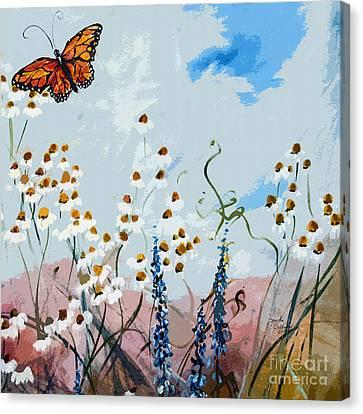 Monarch Butterfly Modern Art Canvas Print by Ginette Callaway