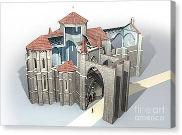St Anthony The Great Canvas Print - Monastery At Castrojeriz, Artwork by Jose Antonio Pe??as