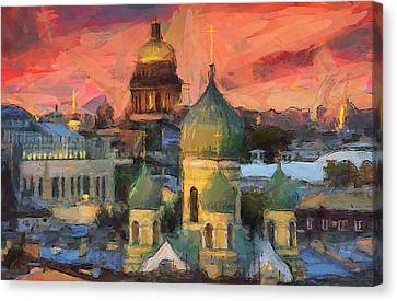 Monastery At Sunset Canvas Print by Yury Malkov
