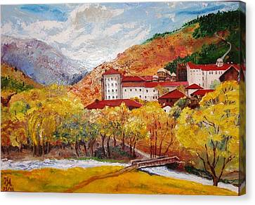 Monastery Canvas Print by Nina Mitkova