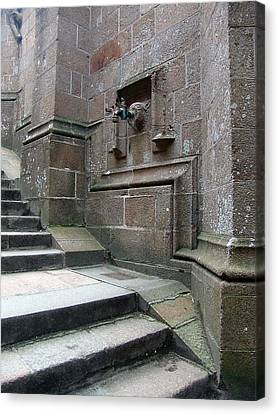 Monastery Steps To Water Source Canvas Print
