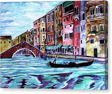 Monday In Venice Canvas Print