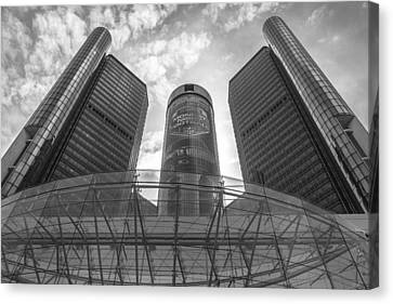 Monday Night Football And Renaissance Center  Canvas Print by John McGraw