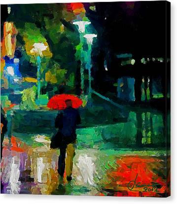 Monday Night On Dundas West Tnm Canvas Print by Vincent DiNovici