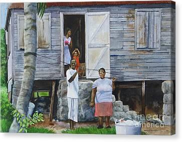 Monday-washday Canvas Print by Karol Wyckoff