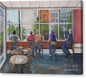 Mondays At Tim Hortons Canvas Print by Reb Frost