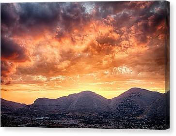 Mondello Sunset Canvas Print by Viacheslav Savitskiy