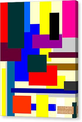 Mondrian Composition Canvas Print by Celestial Images