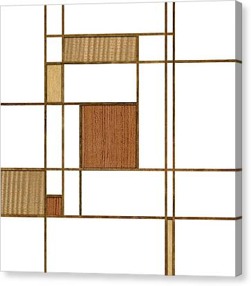 Mondrian In Wood Canvas Print