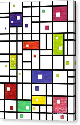 Mondrian-like Canvas Print