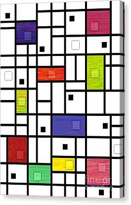 Mondrian-like Variation Canvas Print by David K Small
