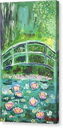 Monet 1899 Bridge Over A Pool Of Water Lilies Canvas Print by Ethan Altshuler