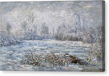 Monet, Claude 1840-1926. Frost Canvas Print by Everett