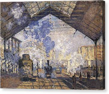 Impressionist Canvas Print - Monet, Claude 1840-1926. The Gare St by Everett