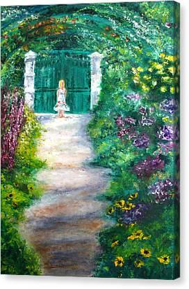 Monet Garden Admirer Canvas Print