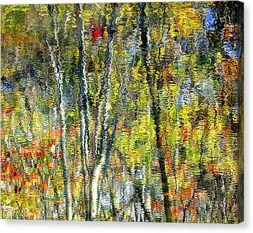 Reflecting Water Canvas Print - Monet Lives On by Frozen in Time Fine Art Photography
